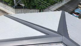 屋根棟板金及び貫板交換工事